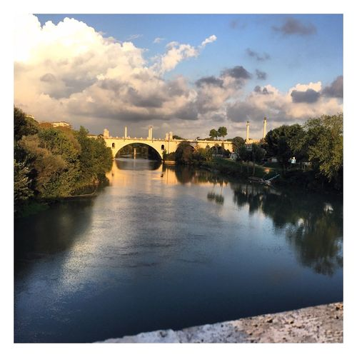 Enjoying Life Relaxing Pontemilvio Rome Italy Tevere