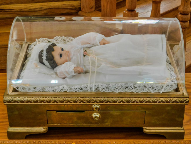 San Lorenzo, Catholic Church, Clint Texas. Saint Lorenzo is the Patron Saint of Cooks Lying Down Indoors  Furniture Relaxation One Person Bed Sleeping Real People High Angle View Young Adult Full Length Childhood Eyes Closed  Resting Women Young Women Domestic Room Adult Innocence Luxury