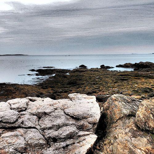 Rocky Coast Of Maine Ocean Water Boothbay Harbor Maine