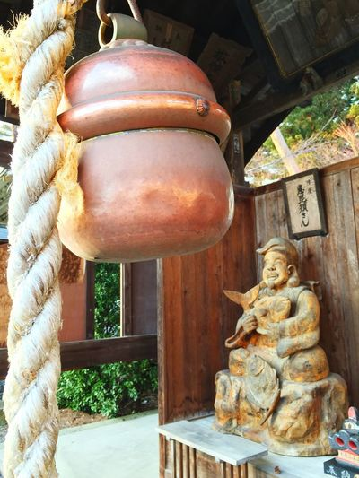 Learn & Shoot: Balancing Elements A huge bell and the God of good luck in Morioka city. Unique Japanese Culture Check This Out Discover Your City Tadaa Community Travel Travelling Sculpture Temple Ultimate Japan
