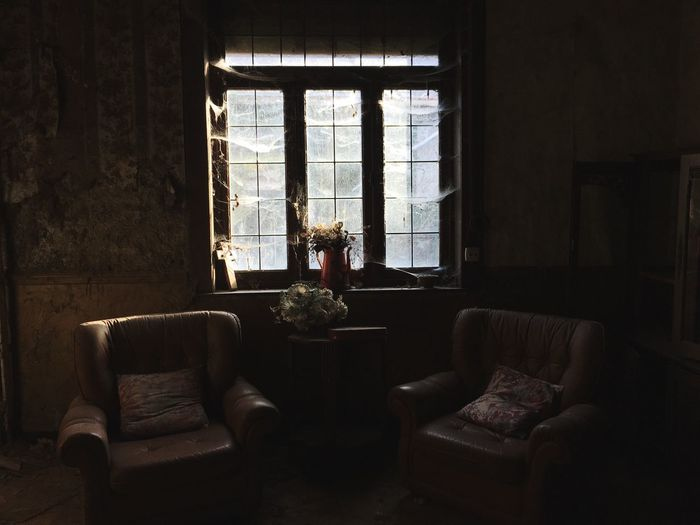 Urbex Window Sofa Living Room House First Eyeem Photo