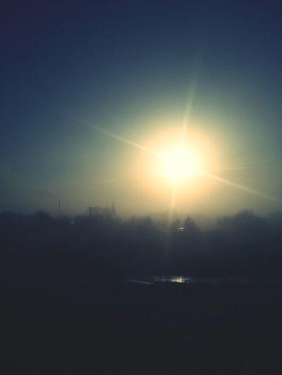 sunrise in the fog Sunrise Fog туман восход