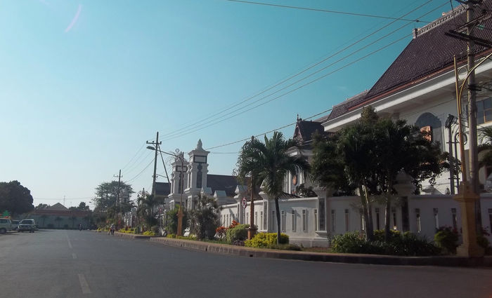 Peace House City City Life City Street Houses Morning Architecture Building Exterior Built Structure Cable City Clear Sky Day Electricity  Electricity Pylon House No People Outdoors Power Line  Power Supply Road Sky Street Telephone Line Tree Village