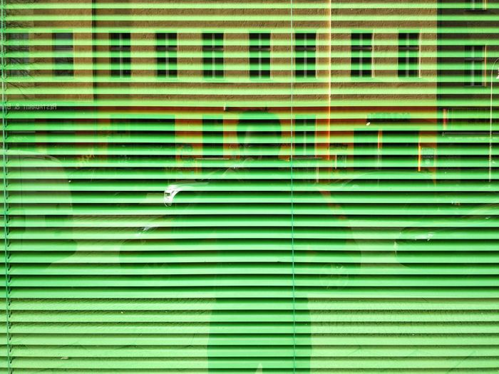 Closed. Closed Abstract Copy Space Business Light Office Street Berliner Ansichten Berlin Morning Walk Kottbusser Tor Lines And Patterns Lines Window Reflection ThatsMe Backgrounds Green Color Full Frame Pattern Textured  Day No People Colour Your Horizn