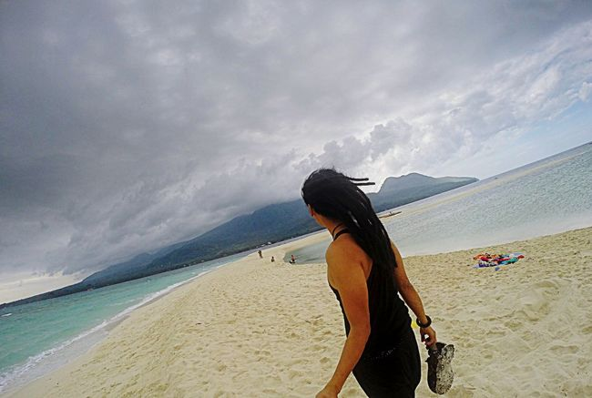 pure bliss: sun, sand & sea! Sun Sandy Beach Sea And Sky Sea_collection Funinthesun  That's Me Fresh Air Morefuninthephilippines Camiguin White Island Dreadlocks