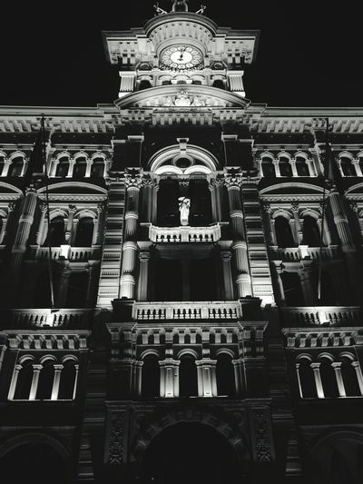 City City Architecture Travel Destinations Built Structure No People Indoors  Arch Place Of Worship Day Night Nightphotography Night Lights Trieste Piazza Square Beautiful Blackandwhite Monochrome Photography City Citta Piazza Unità Piazzaunitàditalia Personal Perspective