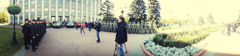 Презентация Громодянськой Варты Оболони и батальона Киев-1 у Оболоньской РГА Киев армия патриотизм