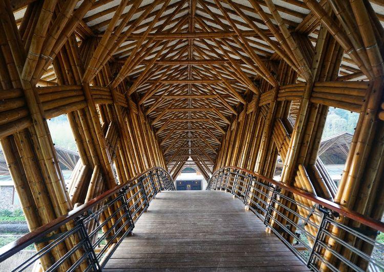 View of bridge in building