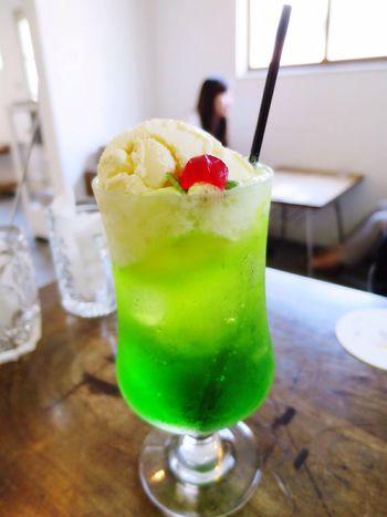 CreamSoda Green Color Soda Cafe Sweet Delicious Japan Misatotown