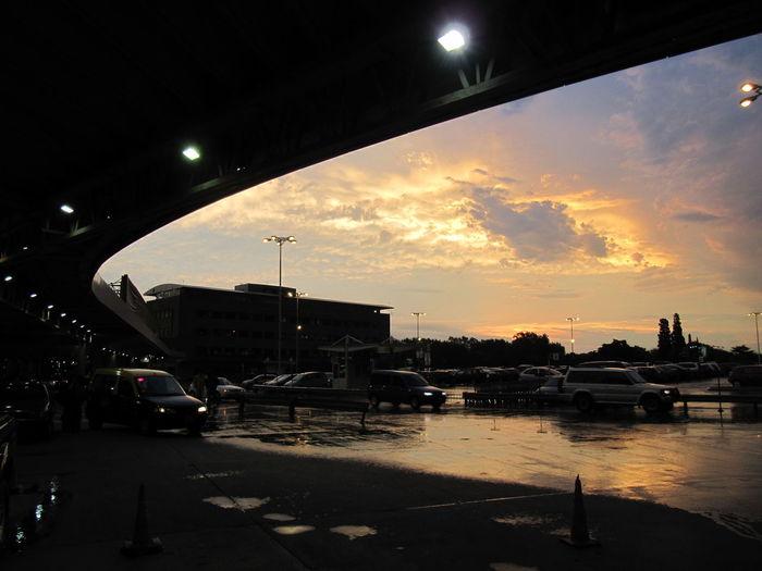 Aeropuerto Internacional Ministro Pistarini Cloud - Sky Cloudy Estacionamiento Ezeiza Illuminated Land Vehicle Nature Outdoors Parking Sky Street Light Sun Sunset Hidden Gems