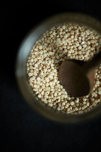 sorghum Cereal Food And Drink Minerals Raw Seed Black Background Calcium Close-up Food Food And Drink Food Photography Freshness Healthy Indoors  Ingredient Niacine No People Phosphorus Potassium Sorghum Vegan