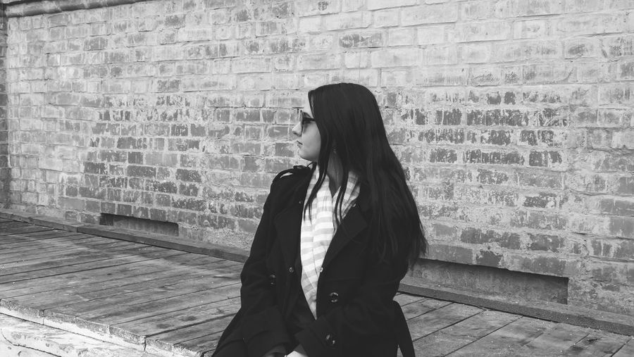 Only Women One Person One Woman Only Brick Wall Adult Adults Only People One Young Woman Only Women Young Adult Lifestyles Young Women Red Standing Outdoors Beautiful Woman Day City Moscow Beauty EyeEm Selects Model Business Eyeglasses  Portrait