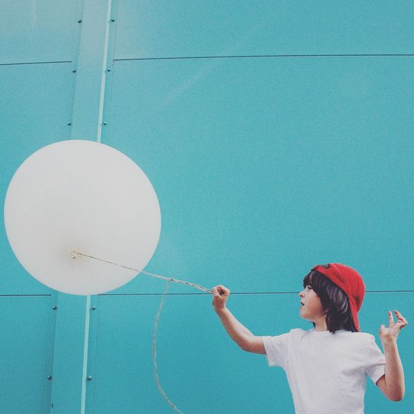 Balloon Fun White Tourquise Check This Out Lauraloophotography The Portraitist - 2016 EyeEm Awards