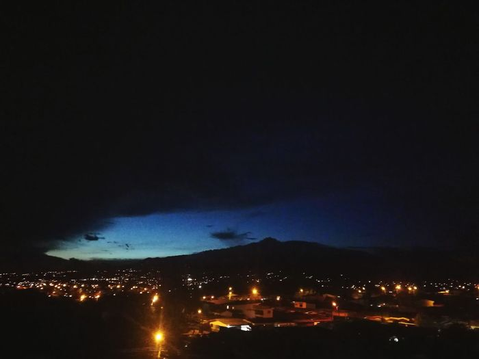 City Illuminated Mountain Thunderstorm Beauty Arts Culture And Entertainment Astronomy Sky Cloud - Sky