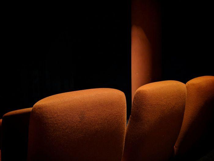 Photogenic cinemas: yellow pt.2 Black Background No People Indoors  Close-up Google Pixel 2 F/1.8 1/19 Sec Yellow Cinema Seat Row More Than One via Fotofall