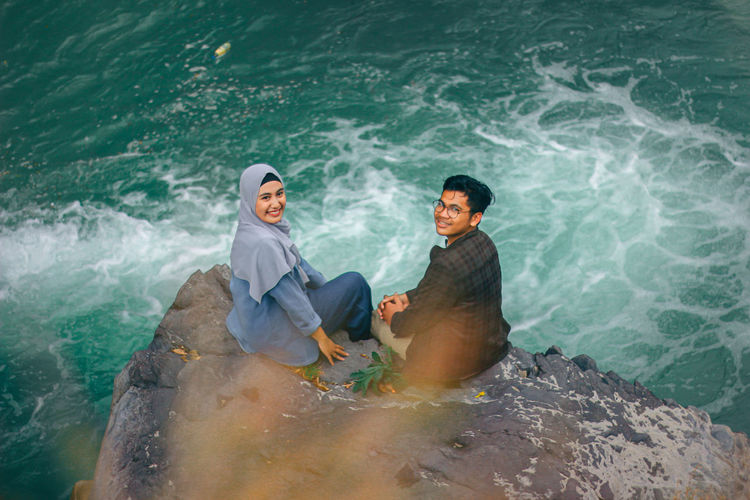 Couple and the nature