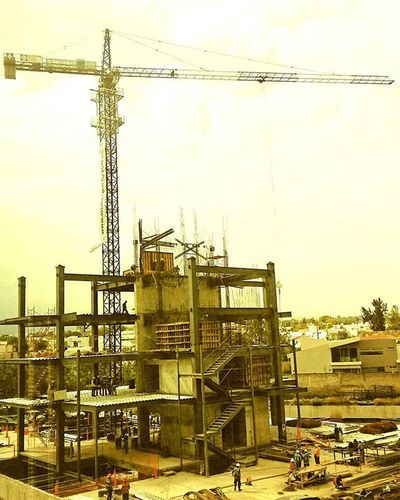 Construction Mextagram Grua Crane Building Andares