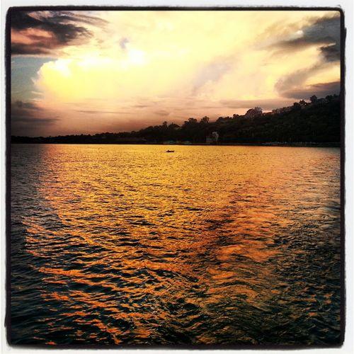 Lake Evening Glow Enjoying Life Colours Of Life