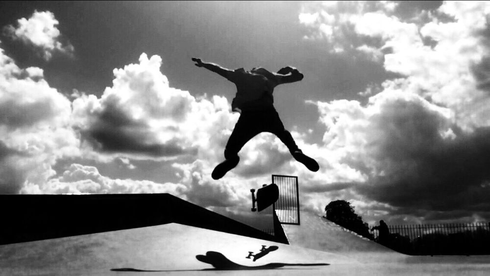 The Moment - 2015 EyeEm Awards The Action Photographer - 2015 EyeEm Awards Skateboarding Clapham Common Skatepark Black & White Skateboard IPhoneography Creative Light And Shadow Sport In The City Capture The Moment