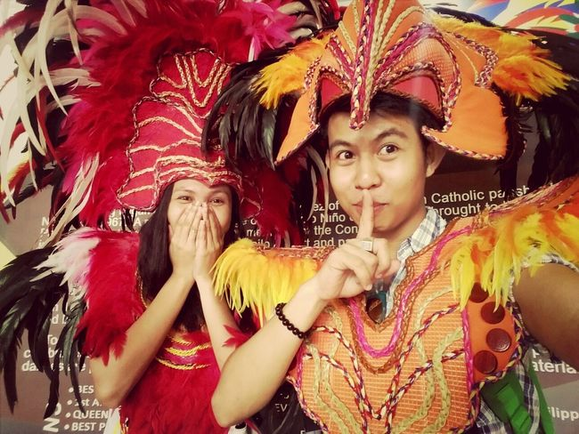 Mobilephoto Cheese! Eyeem Philippines People costume from Iloilo Dinagyang Festival. a Feast which is held every January. CITY OF LOVE!.