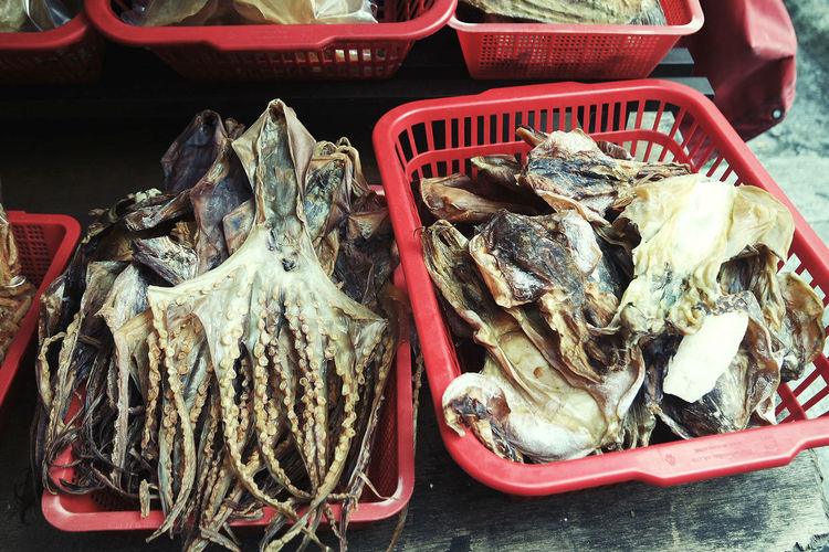 Animals Basket Close-up Day Dried Floor Food Food And Drink For Sale Freshness Healthy Eating Market No People Seafood Variation