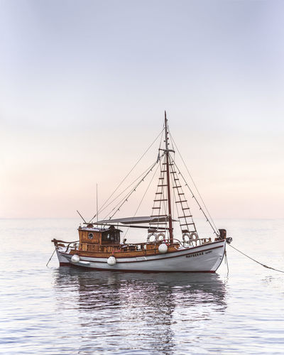 Beauty In Nature Day Fishing Boat Fishing Industry Horizon Horizon Over Water Luxury Mode Of Transportation Nature Nautical Vessel No People Outdoors Sailboat Sailing Scenics - Nature Sea Sky Tranquility Transportation Travel Water Waterfront
