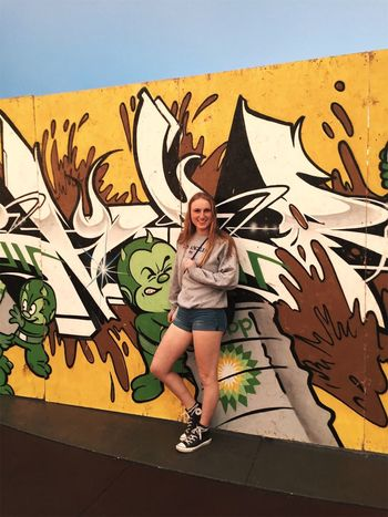 Soundset Minnesota Minneapolis Graffiti Young Adult Young Women Wall - Building Feature One Person Full Length Love Yourself Lifestyles Cool Attitude Outdoors Street Art Portrait Fashion Attitude