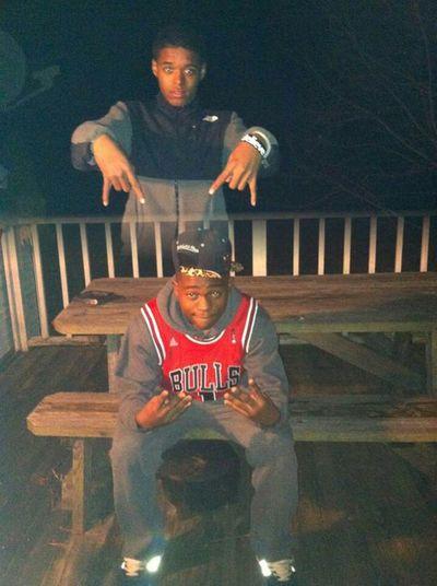 Me & cuz last night thuugin