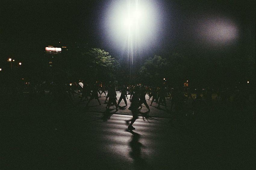 Darkness And Light Taipei Taiwan Night Black 35mm Film Sport In The City Taipei Arena