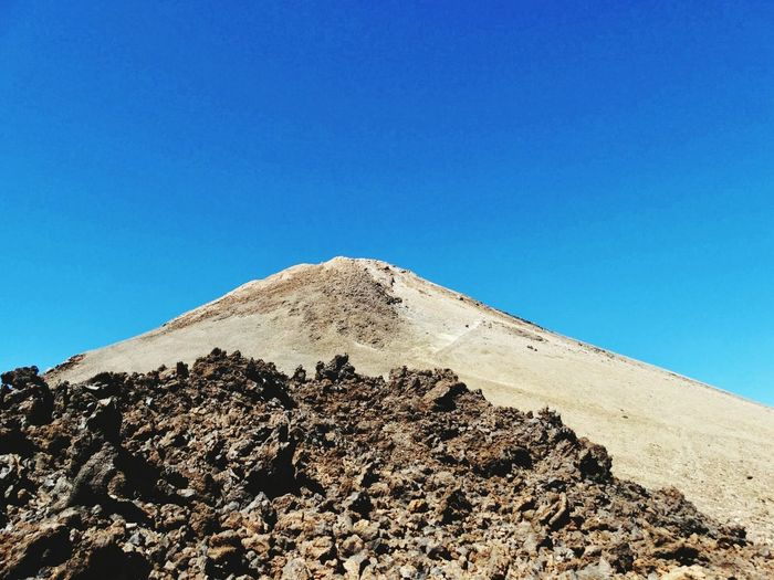 Clear Sky Outdoors Day Blue Nature No People Sky Travel Destinations Pyramid Scenics Desert Landscape Mountain Beauty In Nature Ancient Civilization The Great Outdoors - 2017 EyeEm Awards El Teide National Parc Volcano El Teide, Tenerife  Travel El Teide Lava Lunar Landscape Arid Climate Beauty In Nature
