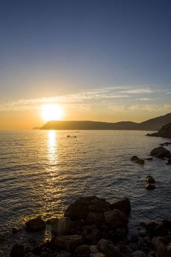 Crimea Nature Rock Travel Mountain Outdoors Sea And Sky Sun Sunset Tripcrimea