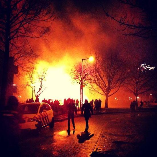 Lekker gewerkt vannacht! NewYear Amsterdam Ambulance Emt ems ehbo fire firework vreugdevuur security