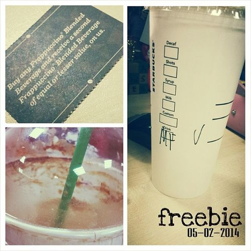 Freebie. Was able to use the SB coupon that came with the planner. ? ☕ 'Twas nice bumping into you @katdelfin . Been a looong time... ? 100happydays Vs100HappyDays Mochafrappe Darkmochafrappe