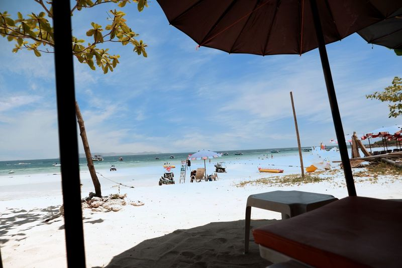 Pattaya Kohlarn Pattaya Thailand Water Sea Beach Relaxation Standing Tree Enjoyment Tropical Climate Summer Sand