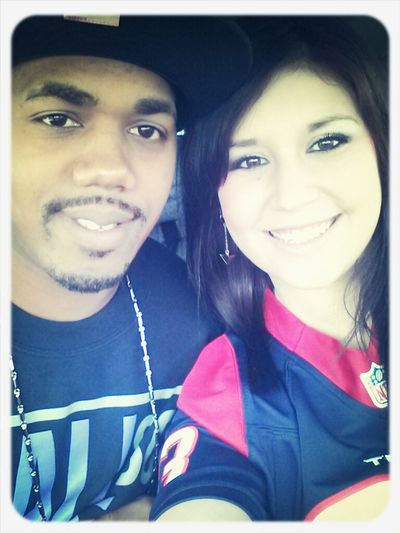 my baby & i ready for the game ♥