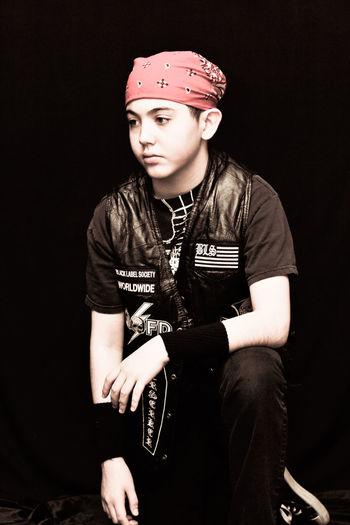 young man Kneeling Boy Heavy Metal EyeEm Portraits Headwear Close-up Portrait Indoors