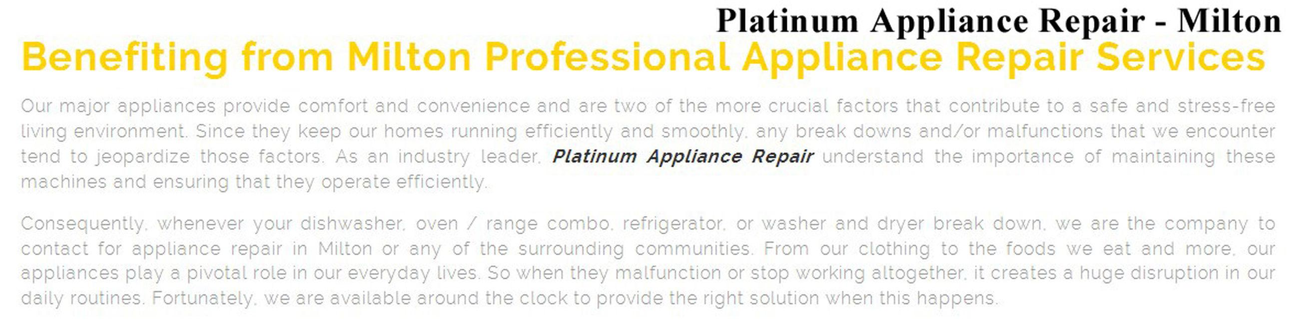 Platinum Appliance Repair 480 Bronte St S #217 Milton, ON L9T 9A9 (289) 270-0316 Appliance Repair Milton Appliance Repair Milton ON Best Appliance Repair Milton Milton Appliance Repair Milton ON Appliance Repair