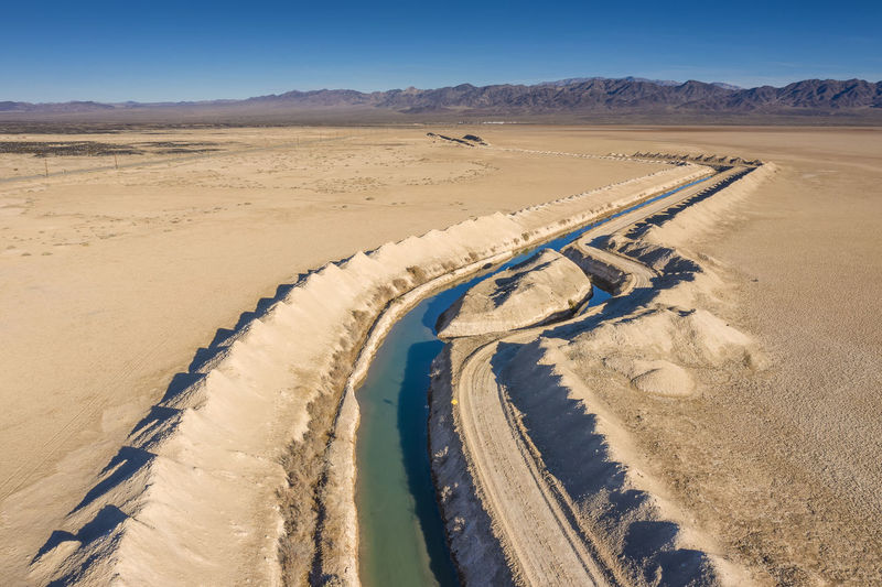 Canal in desert area