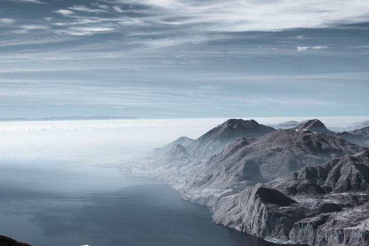 Idyllic View Of Monte Baldo Against Cloudy Sky