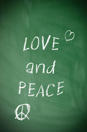 Love and peace Backgrounds Black Chalk Chalkboard Chalkboard Wall Information Love Love And Peace Message Peace