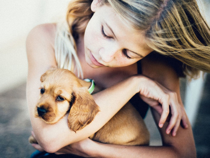 ** Children Dogs Hands Animals Girl Pets Portrait Puppy Love ❤ Summer EyeEmNewHere