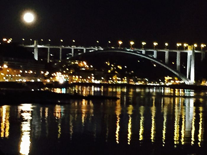 Moon Night View Bridge Winter The Great Outdoors - 2017 EyeEm Awards