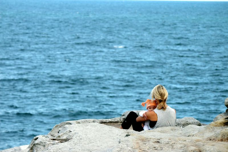 Mother RePicture Motherhood Motherhood Nature People Evening Sea And Sky Hanging Out Eye4photography  Taking Photos Sydney Bondi Loveforever Relaxing