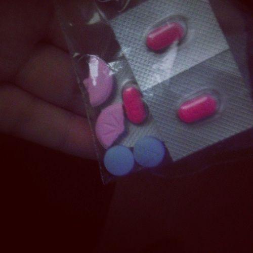 I feel like a drug dealer.. Or druggie... LOL Benadryl Aleeve Allergies Headache peptoforbro lol
