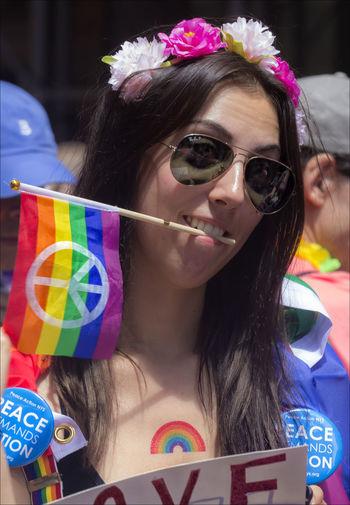 Gay Pride Parade 2017 NYC Female Marcher Gay Pride Gay Pride Parade 2017 NYC Gride March