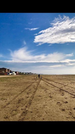 Wirral Hoylake Beach Daughter Dog Running Free Coastline Sunshine Best Friends Blue Sky Sand Clouds Clouds And Sky Wirral Peninsula United Kingdom Family Time