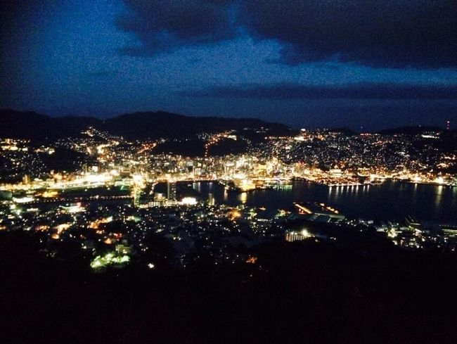 One of the world's three major night views in Nagasaki Japan , Inasayama 🌃 LastSpring Withmyfriend Nightview Beautiful Lovethisplace Impressed