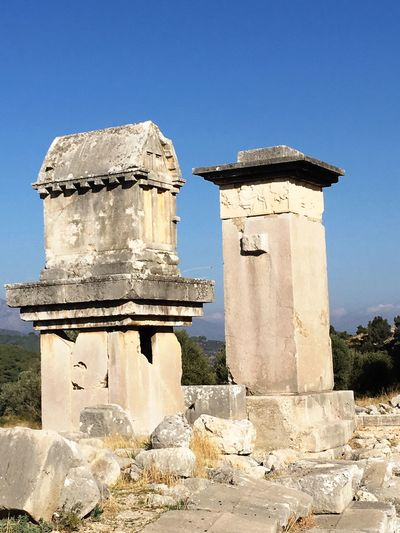 Xanthos'dan bir kare. Blue Travel Destinations No People Ancient Civilization