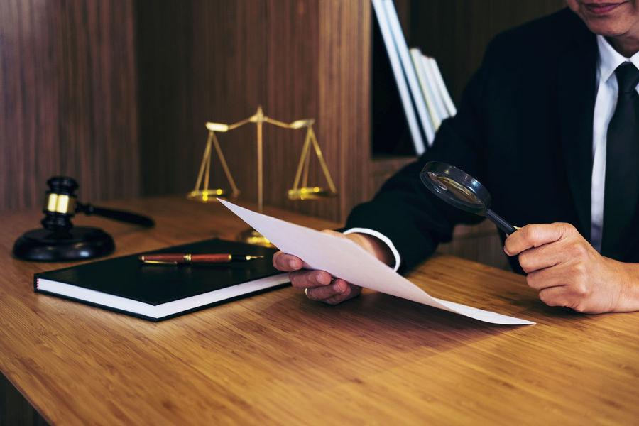 Lawyer Balance Barrister Business Business Person Businessman Communication Connection Consultant Fairness Gavel Hand Holding Human Hand Indoors  Inheritance Judge Judgement Legal Legislation Men One Person Paper Verdict Wood - Material