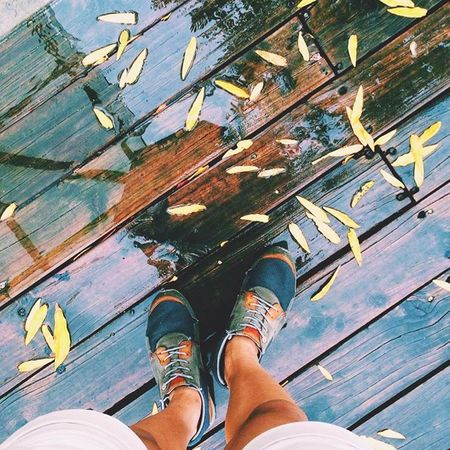 Art Is Everywhere Low Section Human Leg Shoe Human Body Part Personal Perspective Human Foot Wood - Material One Person High Angle View Real People Standing Day Directly Above Leisure Activity Lifestyles Adult Men Outdoors Adults Only Women LevisPh